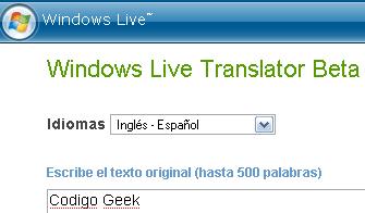 Windows Live Translator Beta