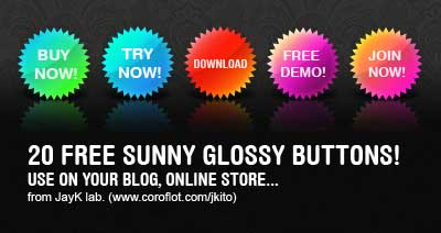 Free Glossy Buttons