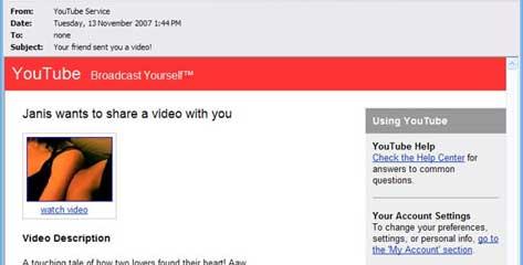Youtube phishing