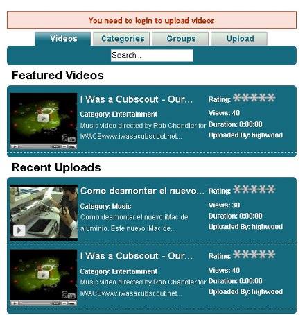 Youtube en Joomla