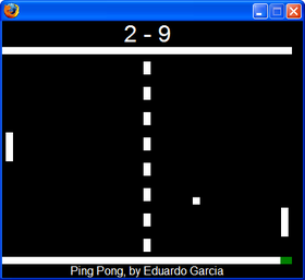 ping pong desde Firefox