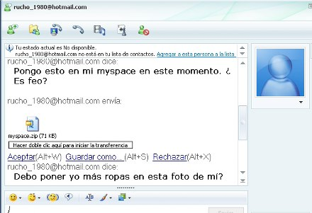 Virus MSN Myspace