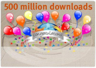 Firefox alcanza las 500.000.000 descargas
