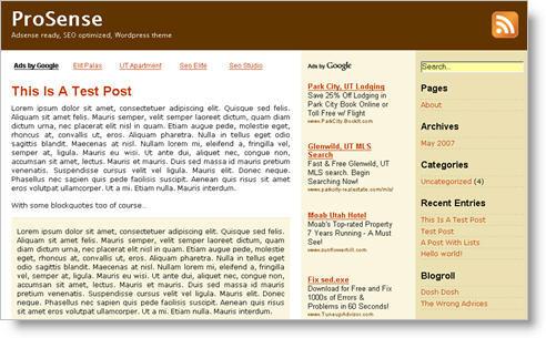 Themes adsense wordpress