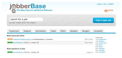 JobberBase Screen