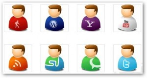 icon texto user web 2.0 pack