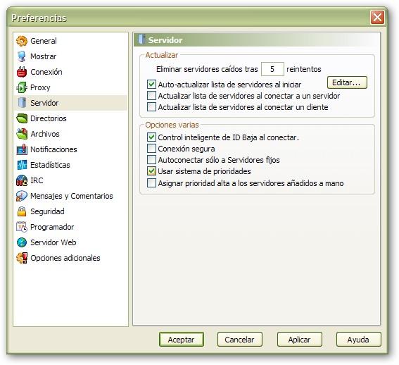 emule-servidores
