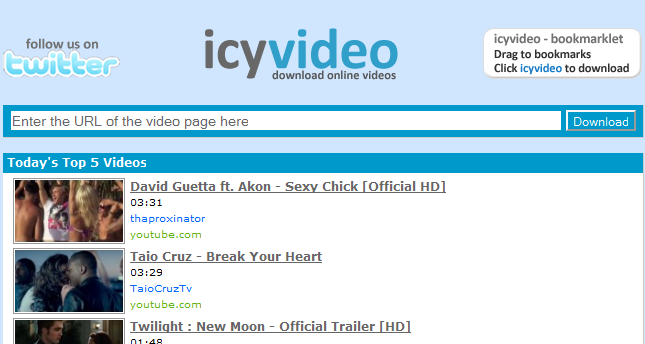 IcyVideo - Download videos from YouTube