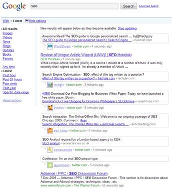 google-tiempo-real