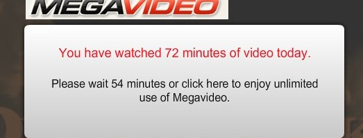 megavideo restriccion