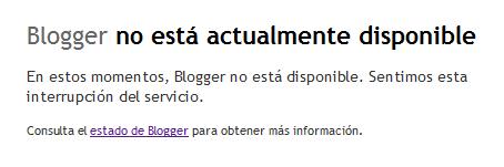 blogger esta caido