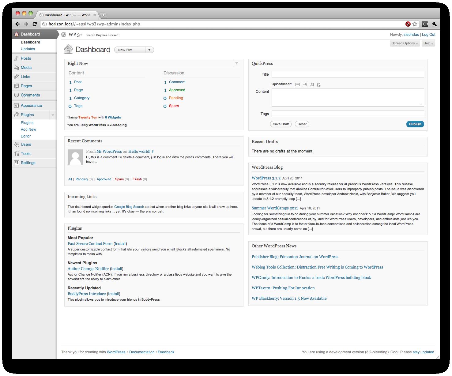 lo nuevo de wordpress 3.2