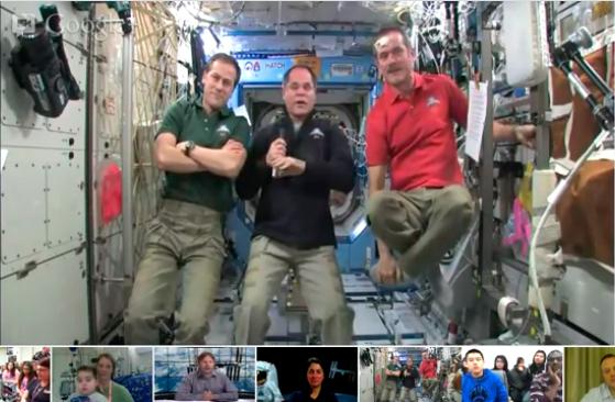 hangout desde el espacio