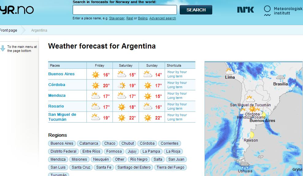 argentina clima codigo
