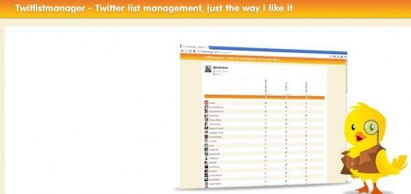 administrar listas en twitter codigo