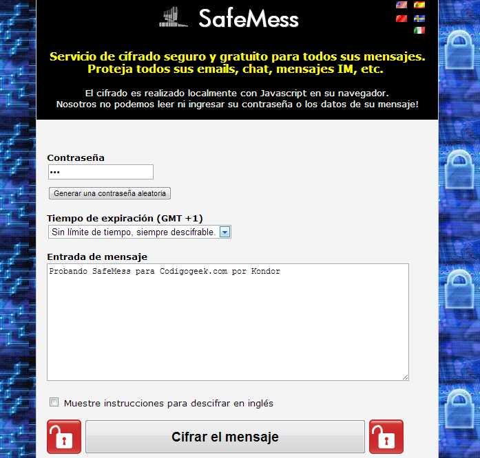 SafeMess codigo