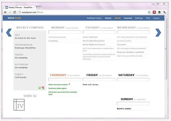 weekplan codigo