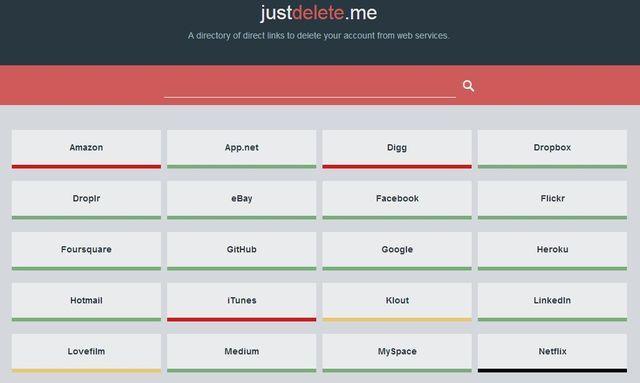 JustDeleteMe codigo