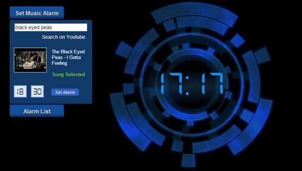 alarma online, Online Music Alarm Clock
