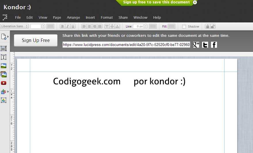 Lucidpress codigo
