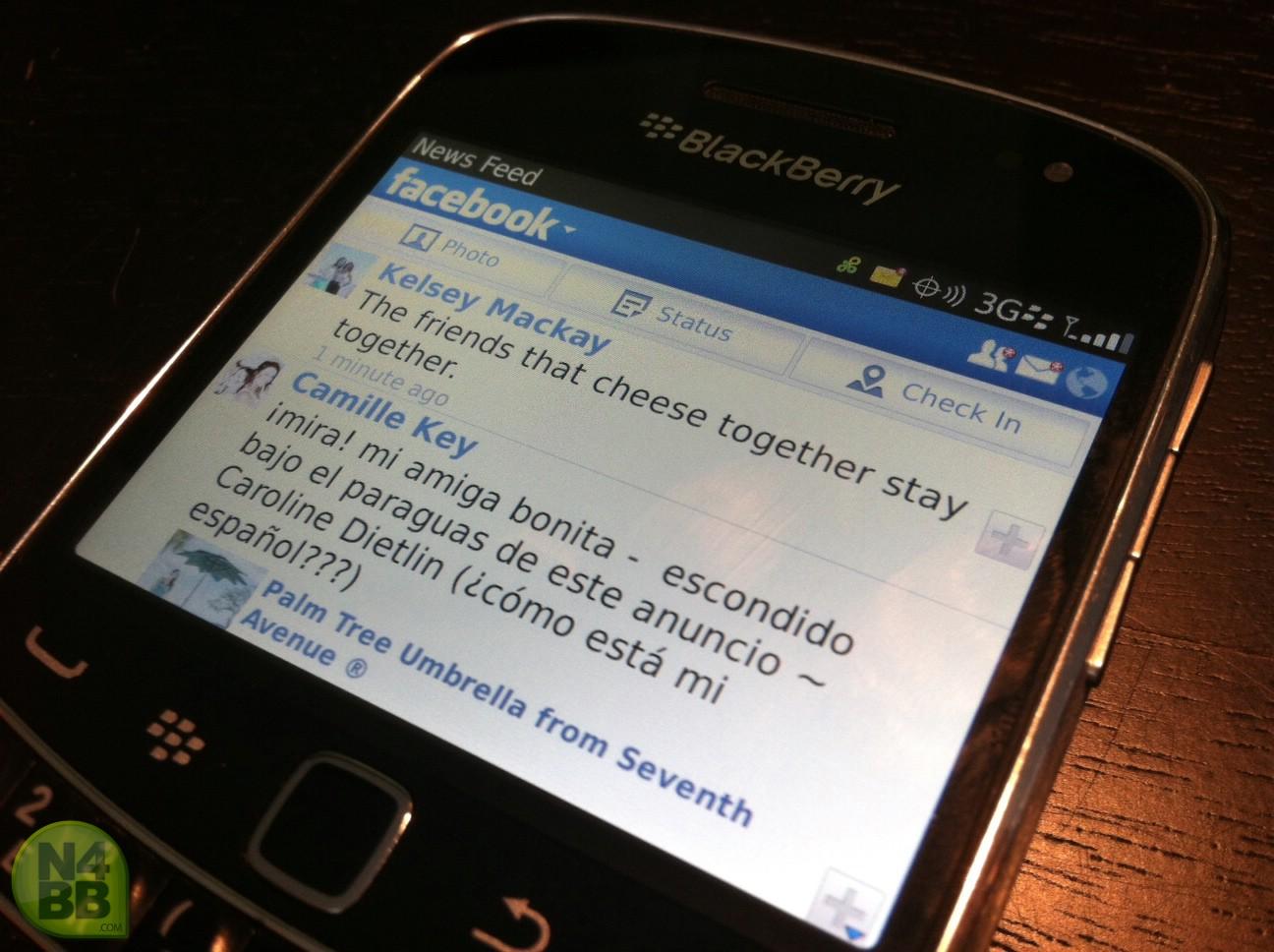 facebook en el blackberry