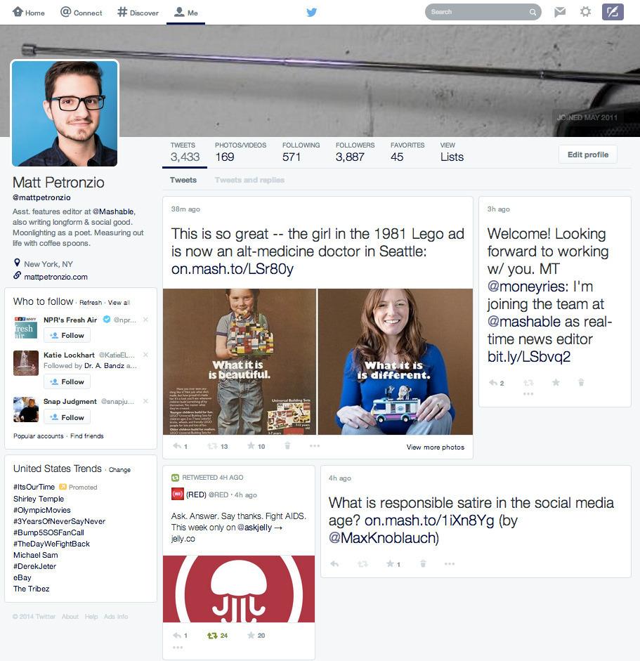 Twitter posible diseño