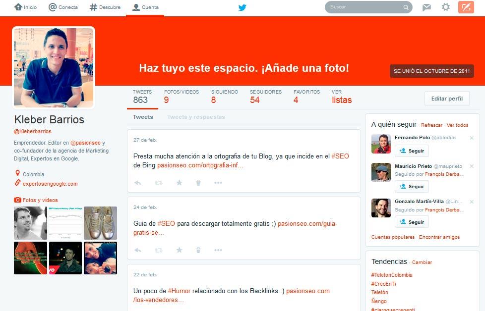 Twitter diseño web