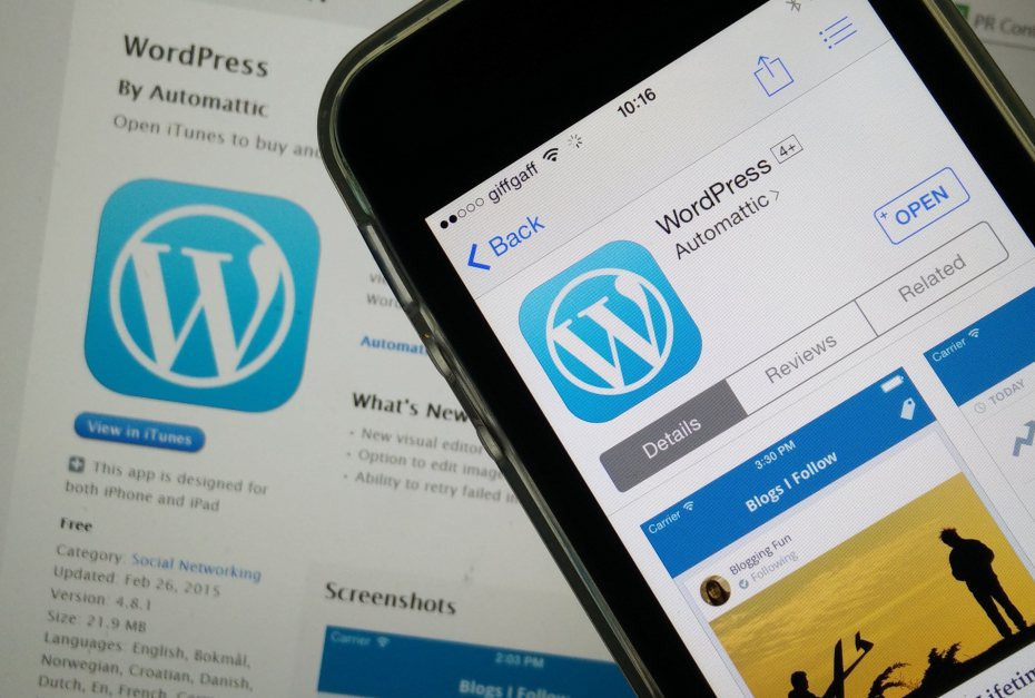 WordPress-movil