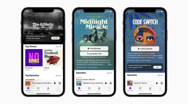 Apple lanzará su nuevo plan de suscripción a podcasts el 15 de junio