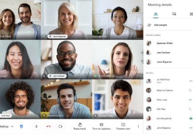 Google Meet se actualiza y añade cambios a su función de levantar la mano