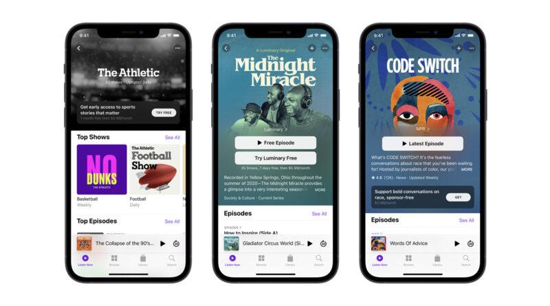 Apple añade nuevas funciones a la aplicación Podcasts en iOS 15