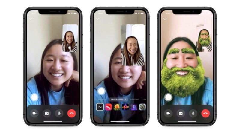 Facebook actualiza Messenger y agrega efectos de realidad aumentada